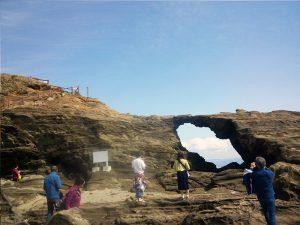 城ヶ島公園 馬の背洞門