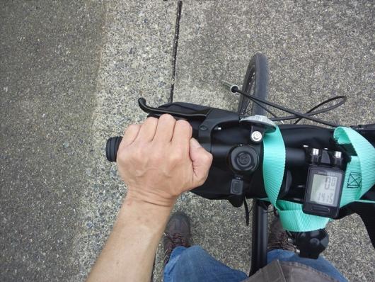 ハンドルの握り方 本の説明通りのやり方