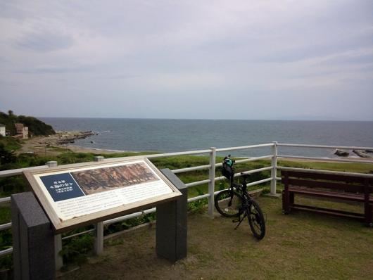 青木繁画伯 記念碑のある場所から海を臨む