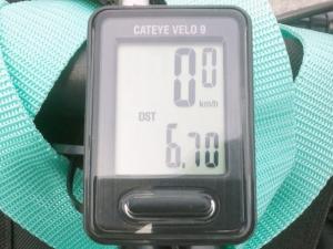 案内板からの走行距離 6.70km