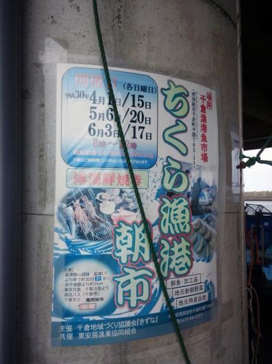 ちくら漁港朝市のポスター