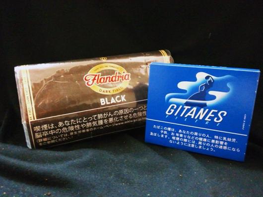 黒タバコ2種 フランドリア・ブラックとジタン・カポラル(FLANDRIA BLACK AND GITANES FILTRE)