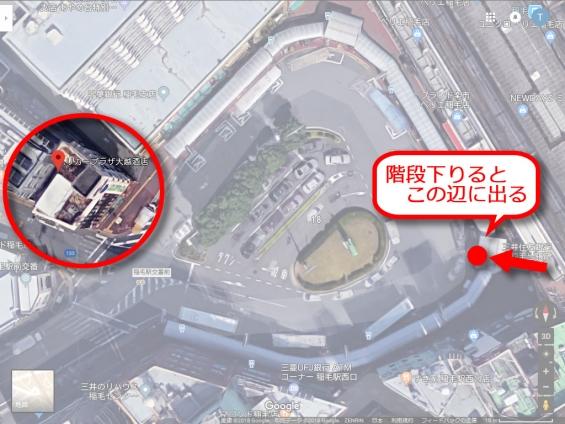 JR稲毛駅西口(Google Earth)