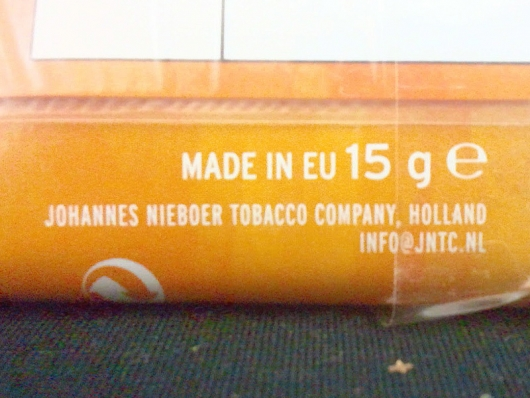 MADE IN EU  JOHANNES NIEBOER TOBACCO COMPANY, HOLLAND