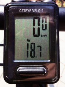 平均速度:18.9 km/h