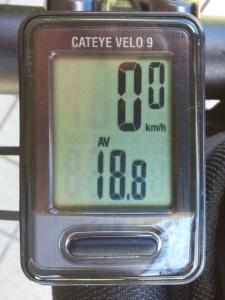 平均速度:18.8 km/h