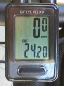 走行距離:24.20 km