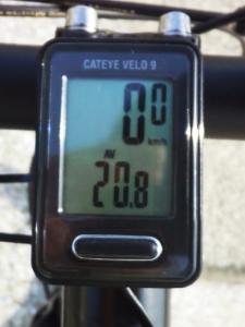 平均速度(往路):20.8 km/h
