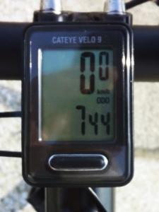 全走行距離(往路):744 km