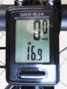 平均速度(トータル):16.9 km/h
