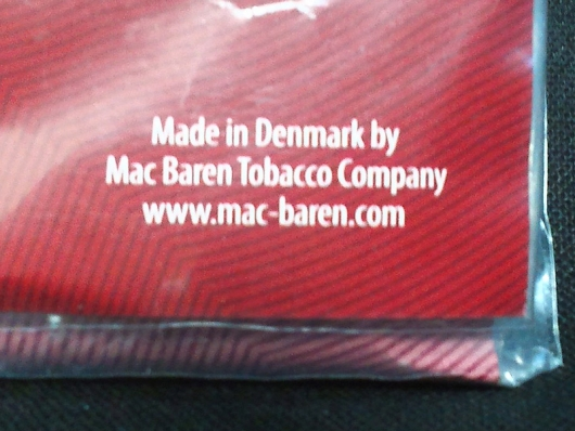 チョイス・ダブルチェリー Made in Denmark by Mac Baren Tobacco Company