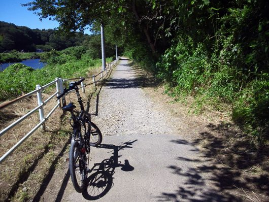 シルヴァF6F 花見川サイクリングコース 未舗装路