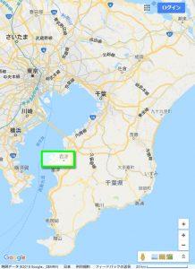千葉県広域図(Googleマップ)