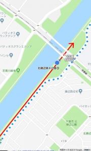 花見川サイクリングコース 京葉線アンダーパス 北磯辺第4公園(Googleマップ 04)