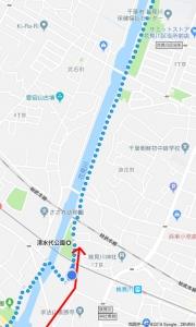 花見川サイクリングコース 京成千葉線アンダーパス (Google マップ 06)