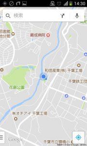 花見川サイクリングコース 花島橋(Googleマップ 11)
