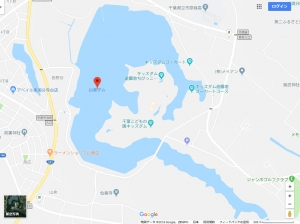 山倉ダム(Googleマップ)