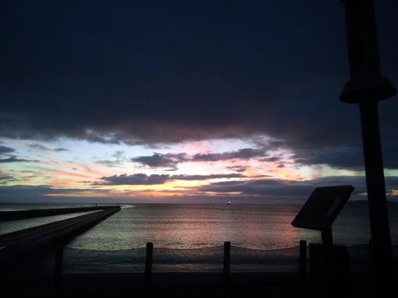 北条桟橋と夕日