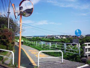 小糸川沿岸歩行者専用道、現在の下流地点