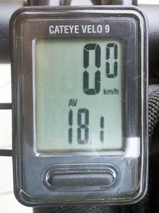 平均速度:18.1 km/h