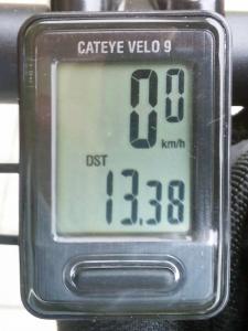 走行距離:13.38 km