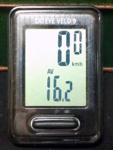 平均速度:16.2 km/h
