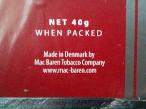 セブンシーズ・チェリーブレンド:NET 40g Made in Denmark by Mac Baren Tobacco Company