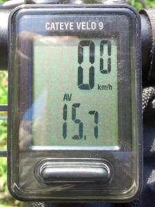 平均速度:14.3 km/h(10.77 km/00:46:03)