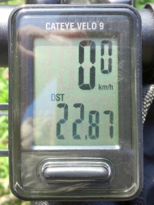 走行距離:10.77 km(22.87-12.10)