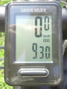 """全走行距離:930 km"""""""