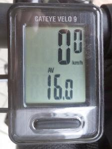 平均速度:16.0 km/h