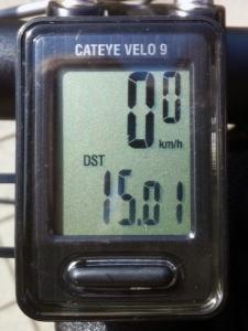 走行距離:15.01 km