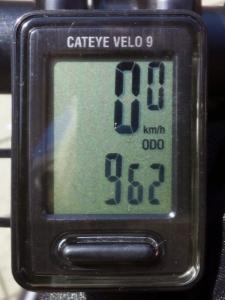 全走行距離:962 km