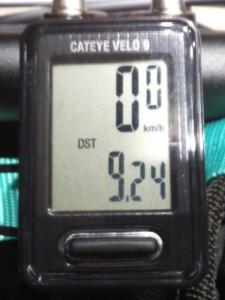 走行距離:9.24 km