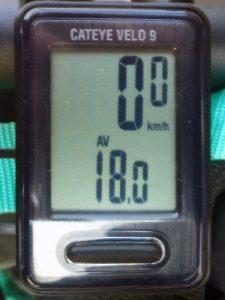 平均速度:18.0 km/h