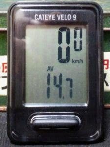 平均速度:14.7 km/h