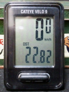 走行距離:22.82 km
