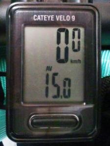 平均速度:15.0 km/h