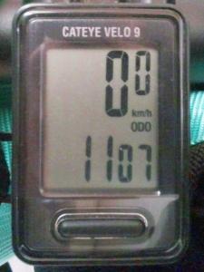 全走行距離:1107 km