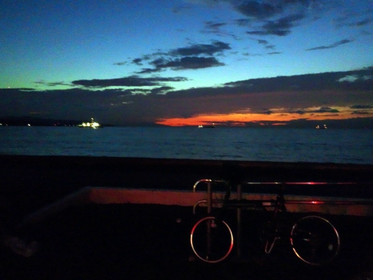 シルヴァF6F:北条海岸の夕日