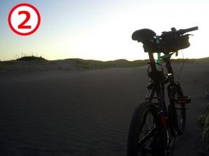 シルヴァF6F 403和田白浜館山自転車道線(砂に埋もれた区間)
