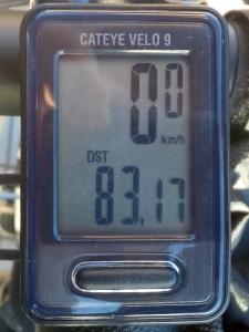 走行距離:83.17 km