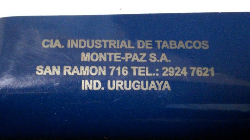 アークロイヤル・フルアロマ:URUGUAYA CIA. INDUSTORIAL DE TOBACCOS MONTE-PAZ S.A.