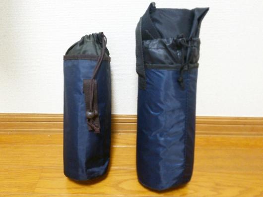 輪行バッグをペットボトルケース(2リットル用)に入れた状態