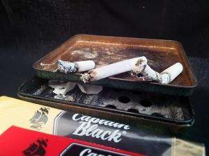 ペーパーの比較(5):約15分後、スモーキング・グリーン、最後まで燃えて火が消える