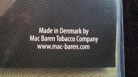 チョイス・ダブルバニラ:Made in Denmark by Mac Baren Tobacco Company