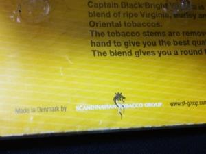 キャプテンブラック・ブライトバージニア:Made in Denmark by SCANDINAVIAN TOBACCO GROUP